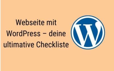Webseite mit WordPress – Checkliste