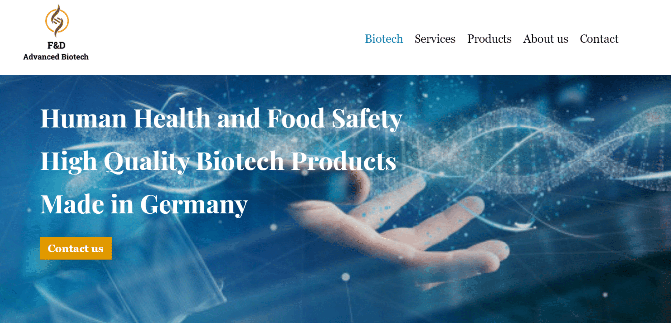 Biotech Webseite made by Alkenana