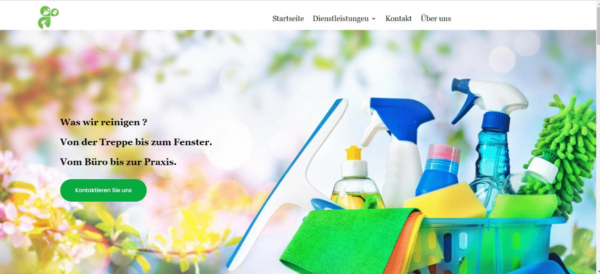 Reinigungswebseite Alkenana Agentur